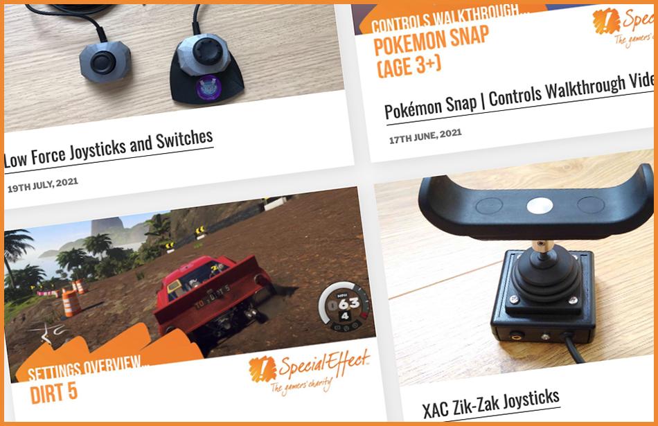 screenshot from the gameaccess website