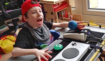 Boy playing games