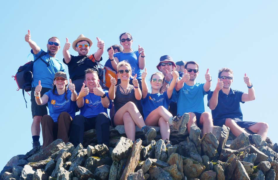 group on mountain top